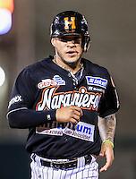 Jorge Flores durante partido3 de beisbol entre Naranjeros de Hermosillo vs Mayos de Navojoa. Temporada 2016 2017 de la Liga Mexicana del Pacifico.<br /> © Foto: LuisGutierrez/NORTEPHOTO.COM