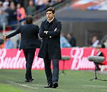 Tottenham's Mauricio Pochettino looks on dejected during the FA Cup Semi Final match at Wembley Stadium, London. Picture date: April 22nd, 2017. Pic credit should read: David Klein/Sportimage