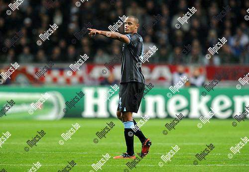 2012-10-24 / Voetbal / seizoen 2012-2013 / UEFA Champion League / Ajax - Manchester City/ Vincent Kompany..Foto: Mpics.be