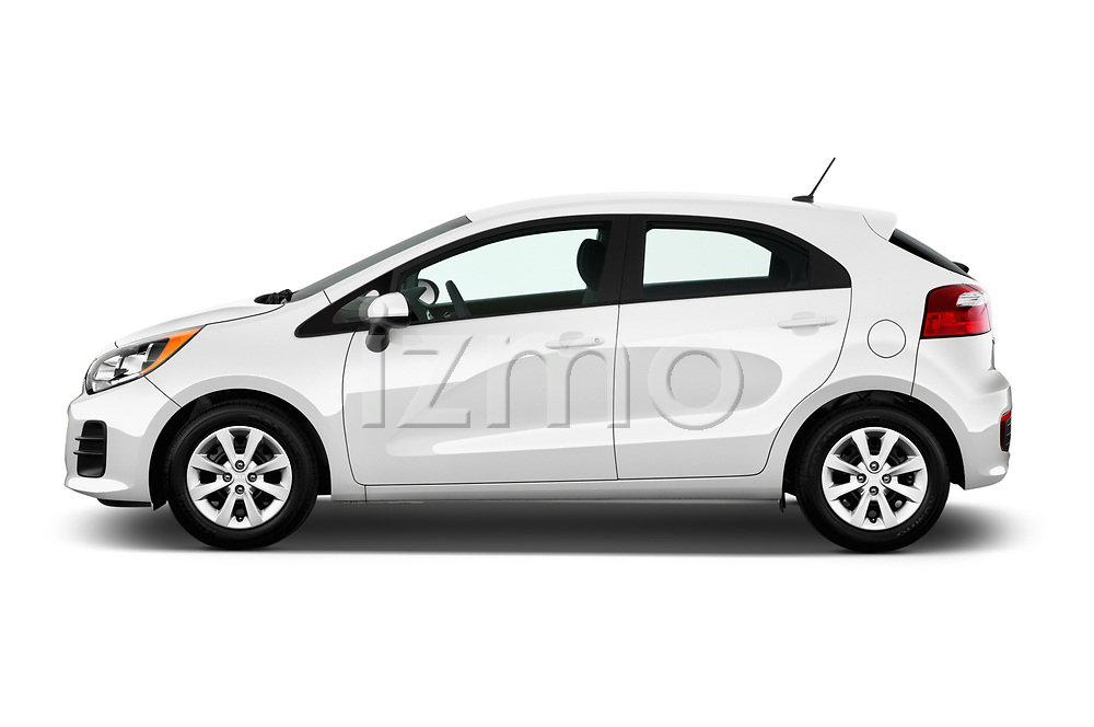 Car Driver side profile view of a 2017 KIA Rio LX 5 Door Hatchback Side View