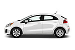 Car Driver side profile view of a 2016 KIA Rio LX 5 Door Hatchback Side View