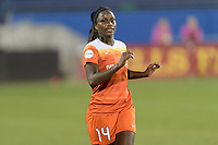 Frisco, TX - Sunday September 03, 2017: Nichelle Prince during a regular season National Women's Soccer League (NWSL) match between the Houston Dash and the Seattle Reign FC at Toyota Stadium in Frisco Texas. The match was moved to Toyota Stadium in Frisco Texas due to Hurricane Harvey hitting Houston Texas.