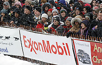 March 3, 2012 Spectators lined Fourth Avenue for a chance to watch the Ceremonial Start of Iditarod 2012 in downtown Anchorage, Alaska.