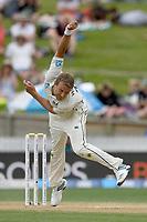 1st December 2019, Hamilton, New Zealand;  Neil Wagner bowls.<br /> International test match cricket, New Zealand versus England at Seddon Park, Hamilton, New Zealand. Sunday 1 December 2019.