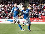 St Johnstone v Hearts&hellip;17.09.16.. McDiarmid Park  SPFL<br />Graham Cummins celebrates his goal<br />Picture by Graeme Hart.<br />Copyright Perthshire Picture Agency<br />Tel: 01738 623350  Mobile: 07990 594431