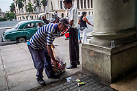 HAVANA, CUBA - SEPTEMBER 08: Cubans A man collects recycleables on 8th of September, 2015 in Havana, Cuba. <br /> <br /> Daniel Berehulak for The New York Times
