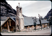 View of Catholic church in Ouray.<br /> Ouray, CO