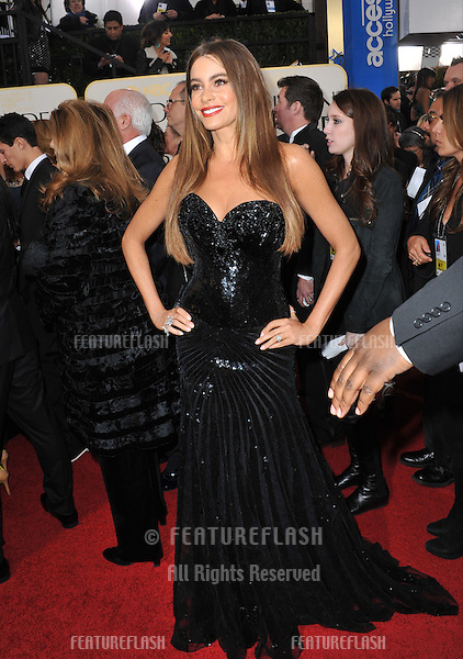 Sofia Vergara at the 70th Golden Globe Awards at the Beverly Hilton Hotel..January 13, 2013  Beverly Hills, CA.Picture: Paul Smith / Featureflash