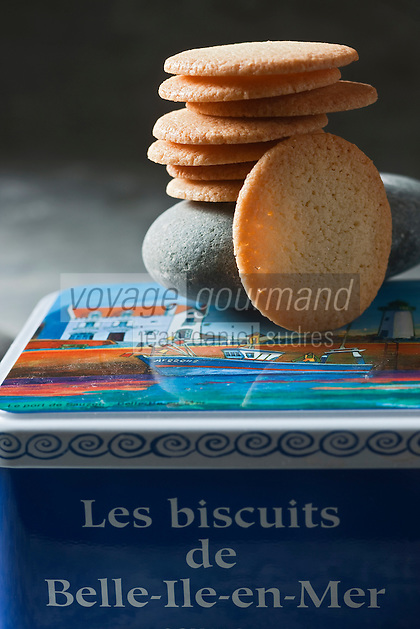 Europe/France/Bretagne/56/Morbihan/ Belle-Ile-en-Mer/Le Palais: Galettes de la Biscuiterie artisanale: La Bien Nommée //  France, Morbihan, Belle Ile en Mer, The Palace, the Biscuit Cakes craft, The Well Appointed