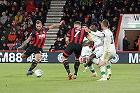 Steve Cook of Bournemouth fires the ball home for the second goal of the game for Bournemouth during AFC Bournemouth vs Norwich City, Caraboa Cup Football at the Vitality Stadium on 30th October 2018