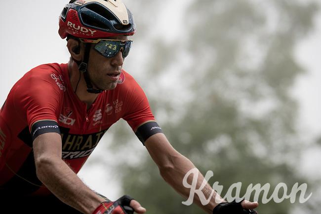 Vincenzo Nibali (ITA/Bahrain-Merida) up the very steep section (+16%) of the Mur de Péguère (Cat1/1375m/9.3km/7.9%)<br /> <br /> Stage 15: Limoux to Foix(185km)<br /> 106th Tour de France 2019 (2.UWT)<br /> <br /> ©kramon
