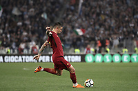 Calcio, Serie A: S.S. Lazio - A.S. Roma, stadio Olimpico, Roma, 15 aprile 2018. <br /> Roma's Aleksandar Kolarov in action during the Italian Serie A football match between S.S. Lazio and A.S. Roma at Rome's Olympic stadium, Rome on April 15, 2018.<br /> UPDATE IMAGES PRESS/Isabella Bonotto