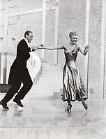 "BNPS.co.uk (01202 558833)<br /> Pic: Bonhams/BNPS<br /> <br /> PICTURED: Ginger Rogers (wearing the necklace) as she dances with Fred Astaire in the ""Swing Trot"" dance number from The Barkleys of Broadway<br /> <br /> A crystal necklace that was worn by legendary actress Vivien Leigh in Gone With the Wind has emerged for sale for £23,000.<br /> <br /> The stylish piece featured in the film when Leigh's character Scarlett O'Hara is on her honeymoon with Rhett Butler - played by Clark Gable.<br /> <br /> It is seen as Scarlett gorges herself on dinners and desserts, while Rhett informs her that he will divorce her if she gets too fat."
