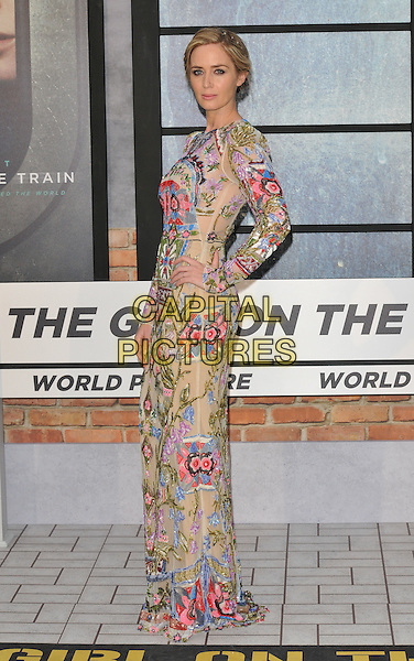 Emily Blunt at the &quot;The Girl on the Train&quot; world film premiere, Odeon Leicester Square cinema, Leicester Square, London, England, UK, on Tuesday 20 September 2016.<br /> CAP/CAN<br /> &copy;CAN/Capital Pictures