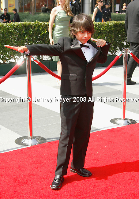 LOS ANGELES, CA. - September 13: Actor Moises Arias arrives at the 60th Primetime Creative Arts Emmy Awards held at Nokia Theatre on September 13, 2008 in Los Angeles, California.