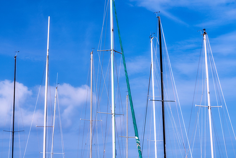 Sailboat masts. Honokohau Bay. Hawaii the big island