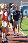 Nevada head soccer coach Melissa Price watches the game against the UNLV Rebels in Reno, Nev., on Sunday, Sept. 3, 2011..Photo by Cathleen Allison
