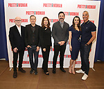 Jim Vallance, Bryan Adams, Paula Wagner, Steve Kazee, Samantha Barks and Jerry Mitchell attends the photo call for the New Broadway Bound Musical 'Pretty Woman' on January 22, 2018 at the New 42nd Street Studios in New York City.