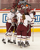 Grace Bizal (BC - 2), Kali Flanagan (BC - 10) - The Boston College Eagles defeated the visiting Boston University Terriers 5-3 (EN) on Friday, November 4, 2016, at Kelley Rink in Conte Forum in Chestnut Hill, Massachusetts.The Boston College Eagles defeated the visiting Boston University Terriers 5-3 (EN) on Friday, November 4, 2016, at Kelley Rink in Conte Forum in Chestnut Hill, Massachusetts.