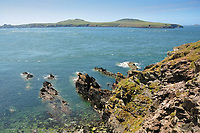 Pictured: Ramsey Island as seen from the Pembrokeshire coast.<br /> Re: A new airborne laser survey of RSPB Ramsey Island has revealed a hidden archaeological landscape thought to date back 4,500 years to the Bronze Age, changing our understanding of how this isolated Pembrokeshire island was settled while providing a powerful new management tool for the RSPB.<br /> The airborne laser survey was commissioned by archaeologists from the Royal Commission on the Ancient and Historical Monuments of Wales as part of the new European-funded Ireland-Wales CHERISH project investigating climate change and coastal heritage. The data captured during the survey has enabled the creation of a highly detailed 3D model of Ramsey Island for the first time. Not only has this led to the discovery of new archaeological sites but it also provides an accurate and precise dataset which can be used to monitor environmental changes on the island as a result of climate change. The CHERISH Project is funded through the EU's Ireland Wales Co-Operation Programme 2014-20.<br /> The new survey has revealed exciting sites such as Bronze Age round barrows, a prehistoric coastal promontory fort, the possible site of a lost chapel and a multitude of ancient field systems. These discoveries are forcing archaeologists to change their interpretation of how humans would have interacted with Ramsey Island during the last 4,000-5,000 years.