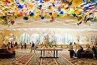 Bellagio Hotel lobby. Las Vegas Nevada.