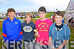 Enjoying Dingle Races on Friday were from left: Danny Sheehy, Ruadhan McCarthy, Seamus O'Flaherty, Mark Ashe