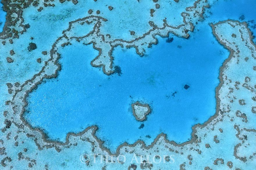 Queensland, Australia --- Aerial View of Great Barrier Reef