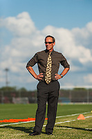 Sky Blue FC head coach Jim Gabarra prior to playing the Western New York Flash during a National Women's Soccer League (NWSL) match at Yurcak Field in Piscataway, NJ, on June 8, 2013.