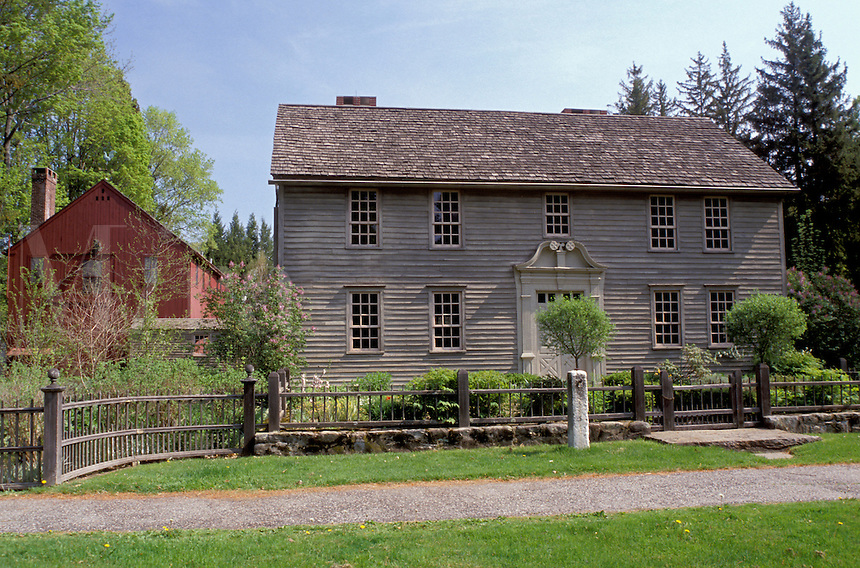 Stockbridge, Massachusetts, The Berkshires, The Mission House in Stockbridge in the spring.