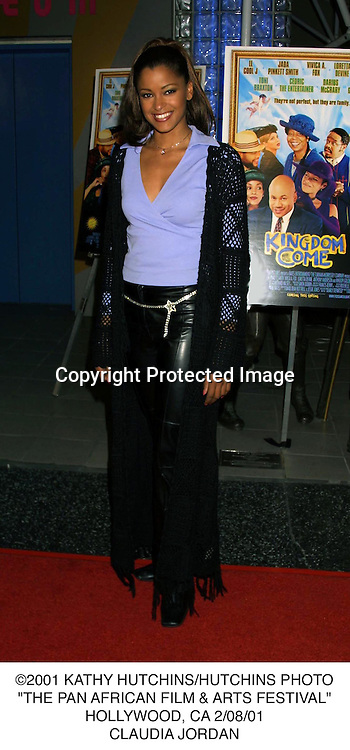 "©2001 KATHY HUTCHINS/HUTCHINS PHOTO.""THE PAN AFRICAN FILM & ARTS FESTIVAL"".HOLLYWOOD, CA 2/08/01.CLAUDIA JORDAN"