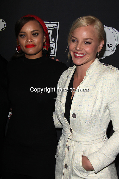 SANTA MONICA, CA - June 20: Andra Day, Abbie Cornish at The 24 Hour Plays Los Angeles After-Party, Shore Hotel, Santa Monica, June 20, 2014. Credit: Janice Ogata/MediaPunch<br />