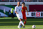 Edgar Bernhardt of Kyrgyz Republic (L) fights for the ball with Chi Zhongguo of China (R) during the AFC Asian Cup UAE 2019 Group C match between China (CHN) and Kyrgyz Republic (KGZ) at Khalifa Bin Zayed Stadium on 07 January 2019 in Al Ain, United Arab Emirates. Photo by Marcio Rodrigo Machado / Power Sport Images
