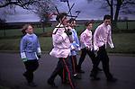 Goathland Plough Stots Goathland Yorkshire UK. Boys Sword dance team. 1980s