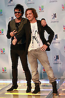 MIAMI, FL- July 19, 2012:  Beto Cuevas and David Bisbal at the 2012 Premios Juventud at The Bank United Center in Miami, Florida. © Majo Grossi/MediaPunch Inc. /*NORTEPHOTO.com*<br />