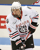 Garrett Vermeersch (Northeastern - 9) - The visiting Rensselaer Polytechnic Institute Engineers tied their host, the Northeastern University Huskies, 2-2 (OT) on Friday, October 15, 2010, at Matthews Arena in Boston, MA.
