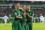 11.02.2018, Weserstadion, Bremen, GER, 1.FBL, SV Werder Bremen vs VfL Wolfsburg<br /> <br /> im Bild<br /> Florian Kainz (Werder Bremen #7) bejubelt seinen Treffer zum 3:1 mit Max Kruse (Werder Bremen #10), Ludwig Augustinsson (Werder Bremen #5), <br /> <br /> Foto &copy; nordphoto / Ewert