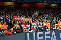 Bayern Munich fans during the UEFA Champions League round of 16 match between Arsenal and Bayern Munich at the Emirates Stadium, London, England on 7 March 2017. Photo by Alan  Stanford / PRiME Media Images.