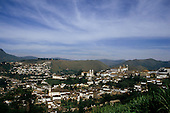 Ouro Preto, Brazil. Overview of colonial town; UNESCO World Heritage site, Minas Gerais State.