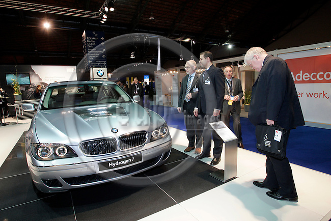 BRUSSELS - BELGIUM - 15 MARCH 2007 -- 5th European Business Summit. -- General view of the summit area with business stands. Here a hydrogen BMW. -- PHOTO: JUHA ROININEN / EUP-IMAGES