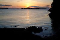 Sunset from Jones Island State Park, San Juan Islands, Washington, US