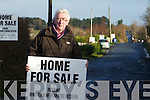 Gerard Doyle protesting at the proposed windfarm in the area.