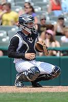 Trenton Thunder catcher J.R. Murphy (15) during game against the Richmond Flying Squirrels at ARM & HAMMER Park on June 9 2013 in Trenton, NJ.  Trenton defeated Richmond 3-2.  Tomasso DeRosa/Four Seam Images