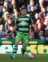 Swansea City's Federico Fernandez during the Barclays Premier League match between Stoke City and Swansea City played at Britannia Stadium, Stoke on April 2nd 2016