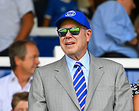Fratton Park reflected in the glasses of Portsmouth Owner Michael Eisner during Portsmouth vs Luton Town, Sky Bet EFL League 1 Football at Fratton Park on 4th August 2018