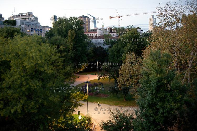 Milano, giardini di via Palestro.