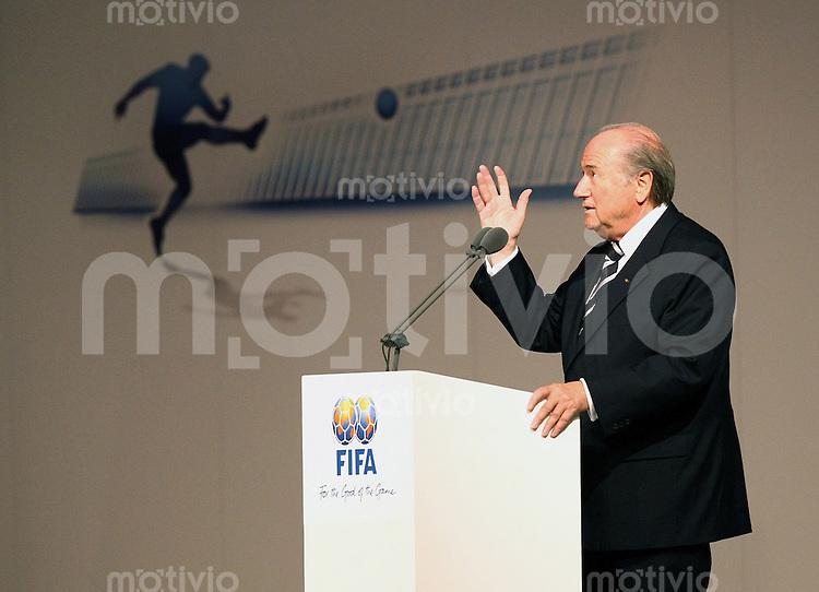 Fussball International Einweihung Home of FIFA  FIFA Praesident Joseph S. Blatter