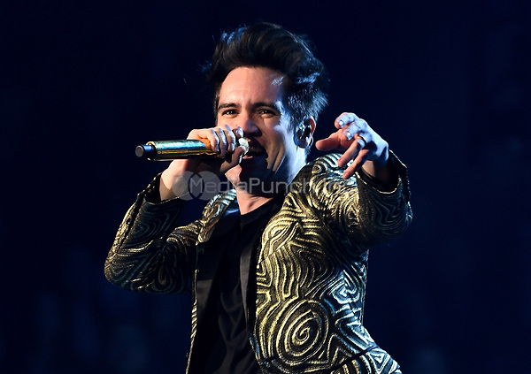 SACRAMENTO, CALIFORNIA - FEBRUARY 20: Brendon Urie of Panic! at the Disco performs during the 'PRAY FOR THE WICKED' tour at Golden 1 Center on February 20, 2019 in Sacramento, California. Photo: imageSPACE/MediaPunch
