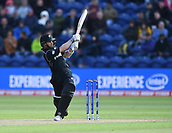 Jun 6th, The SSE SWALEC, Cardiff, Wales; ICC Champions Trophy; England versus New Zealand; Kane Williamson of New Zealand hits a four down the long legside boundary
