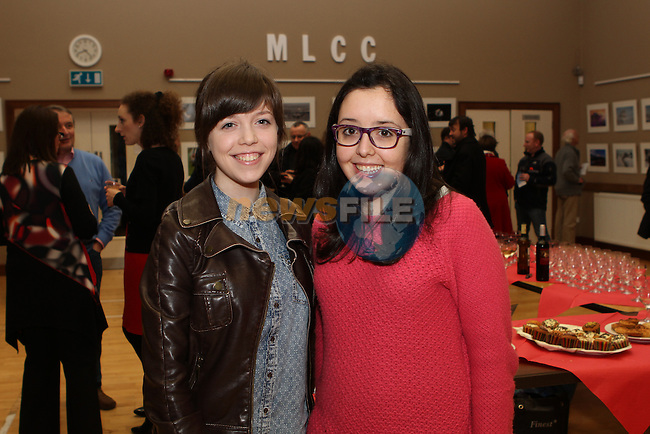 Ciara O'Shaughnessy and Martha Oitavan at the Opening of the Mid Louth Camera Club Landscape and Wildlife Photography Exhibition in St.Peters Church of Ireland...(Photo credit should read Jenny Matthews/NEWSFILE)...