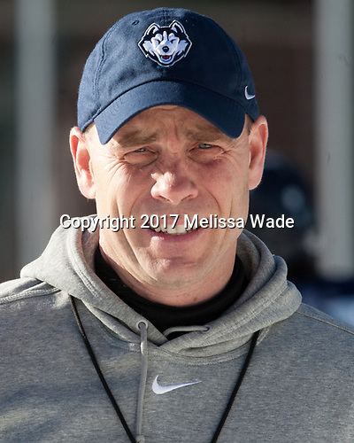 Mike Cavanaugh (UConn - Head Coach) - The UConn Huskies practiced at Fenway on Friday, January 13, 2017, in Boston, Massachusetts.